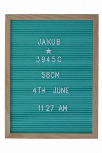 Letterboard - Tablica  z literkami  - 40x30 Sea mint