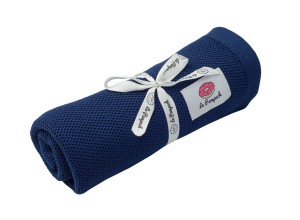 Swaddle - knitted 100% bamboo with silver ions - navy blue