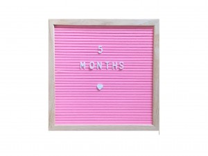 Letterboard -  30x30 Pink