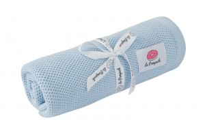Swaddle - knitted 100% bamboo with silver ions - baby blue