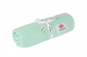 Swaddle - knitted 100% bamboo with silver ions - mint
