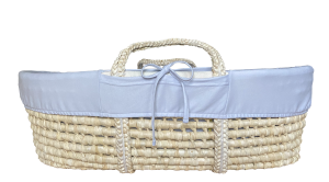 Gray cover for Moses basket - organic cotton